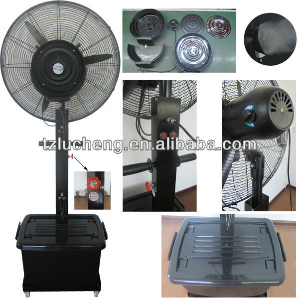 "Hot sale outdoor water mist fan 26"" 30"" with CE ROHS GS SAA"
