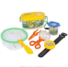 Fun Kids Backyard Bug Exploration Kit Includes Butterfly Net, Compass, Tweezers, Transfer Capsule and Bug Carrier