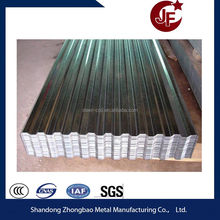 Zinc color coated corrugated iron roofing sheet price