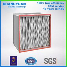 H13 industrial air filter, clean room hepa filter, high temperature oven air filtration device