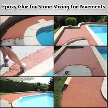 Epoxy Resin Glue for Mixing with Stones for Landscape Floor Design