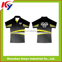 Custom Design Dye Sublimated Race Team Pit Crew Shirts