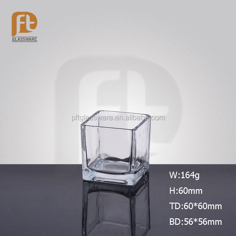 Best selling promotional cheap crystal clear industries glassware shot square wine glass with square bottom