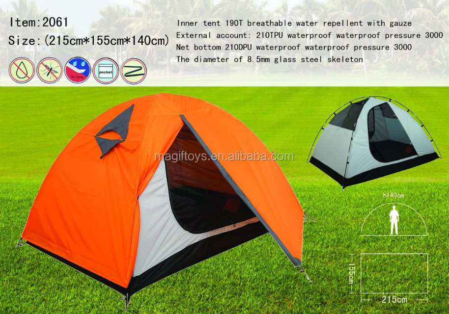 Outdoor traveling tent family tent camping tent China sale