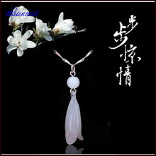 Wholesale jewelry ladies Magnolia Pendant 925 Sterling Silver Pendant