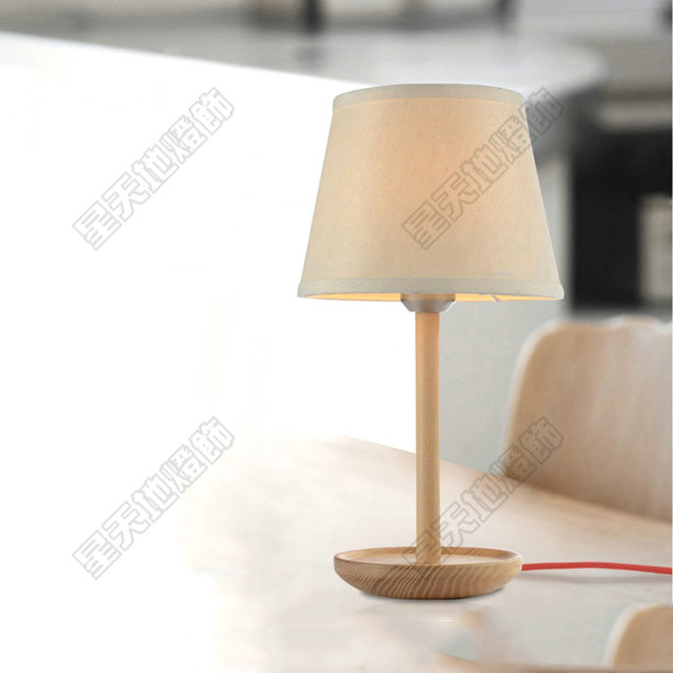 Wood lamp modern brief fashion wooden table lamp solid wood table lamp bed-lighting bedroom lamp