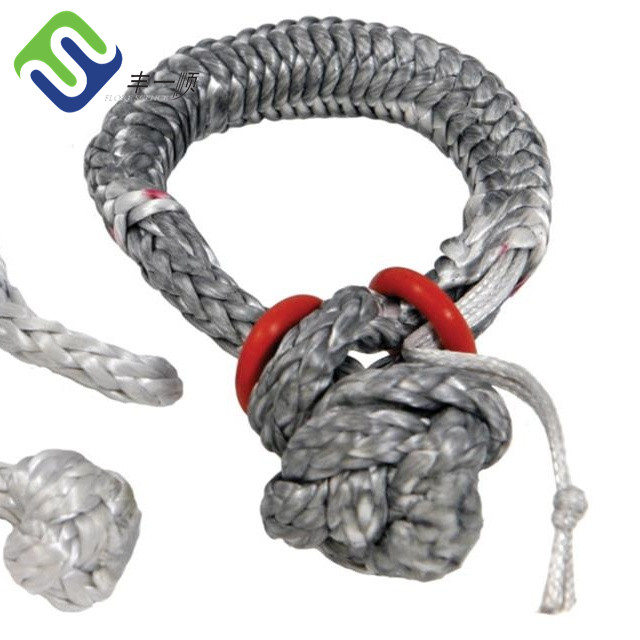12 strand braided UHMWPE soft rope shackle, winch uhmwpe rope