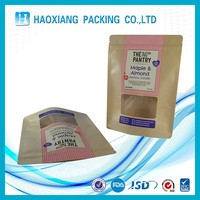 Stand up plastic pouch printed pet food packaging bags
