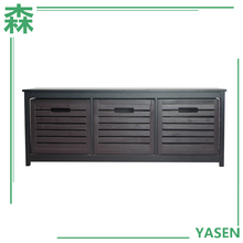 Yasen Houseware Wood 3-Drawers Storage Cabinet Living Room Furniture Drawers Chest With Three Drawers