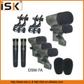 Professional High Quality 7 pieces set instrument Drum Kit Microphone