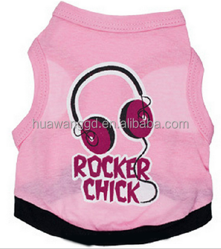 import dog clothes china pink dog clothes rock dog <strong>shirt</strong> with earphone pattern