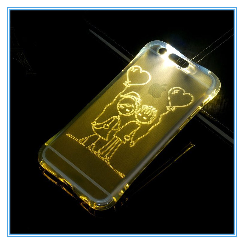 shinning light up phone case for lg x max gliter hard cover