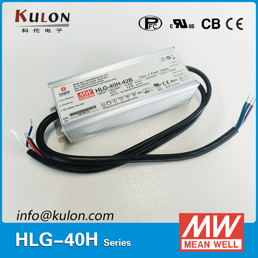 Meanwell Constant Voltage Dimmable HLG-40H-42A 42V Led Driver