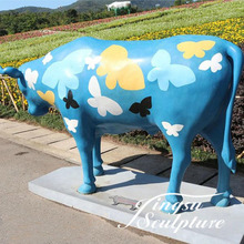 Beautiful Directly Factory Large Fiberglass Animals of Cow