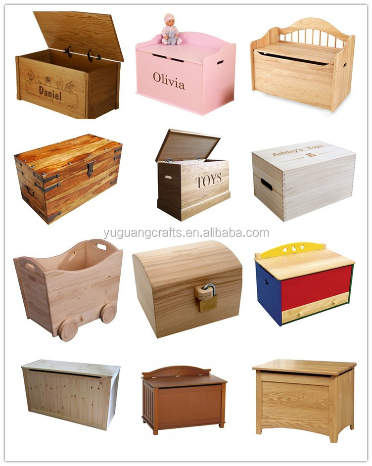 Yuguang crafts wooden toy box wholesale buy toy box for Wholesale wood craft cutouts