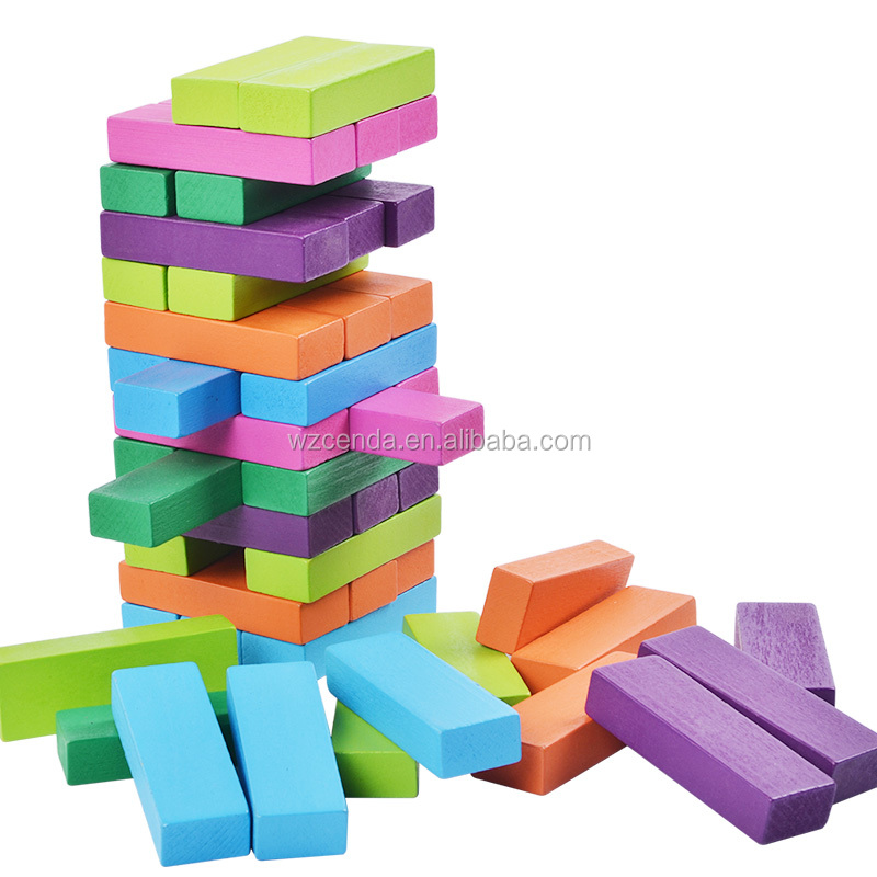 colorful popular 48pcs wooden building blocks toys for kids