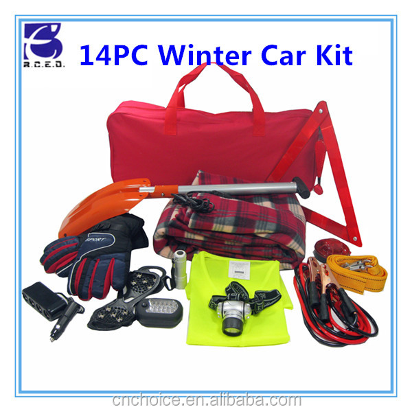 Wholesale universal manuel safety mini auto car parts road emergency winter tool kit