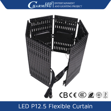 P12.5mm pixel led curtain portable mini cheap video led curtain wall for wedding curtain backdrop
