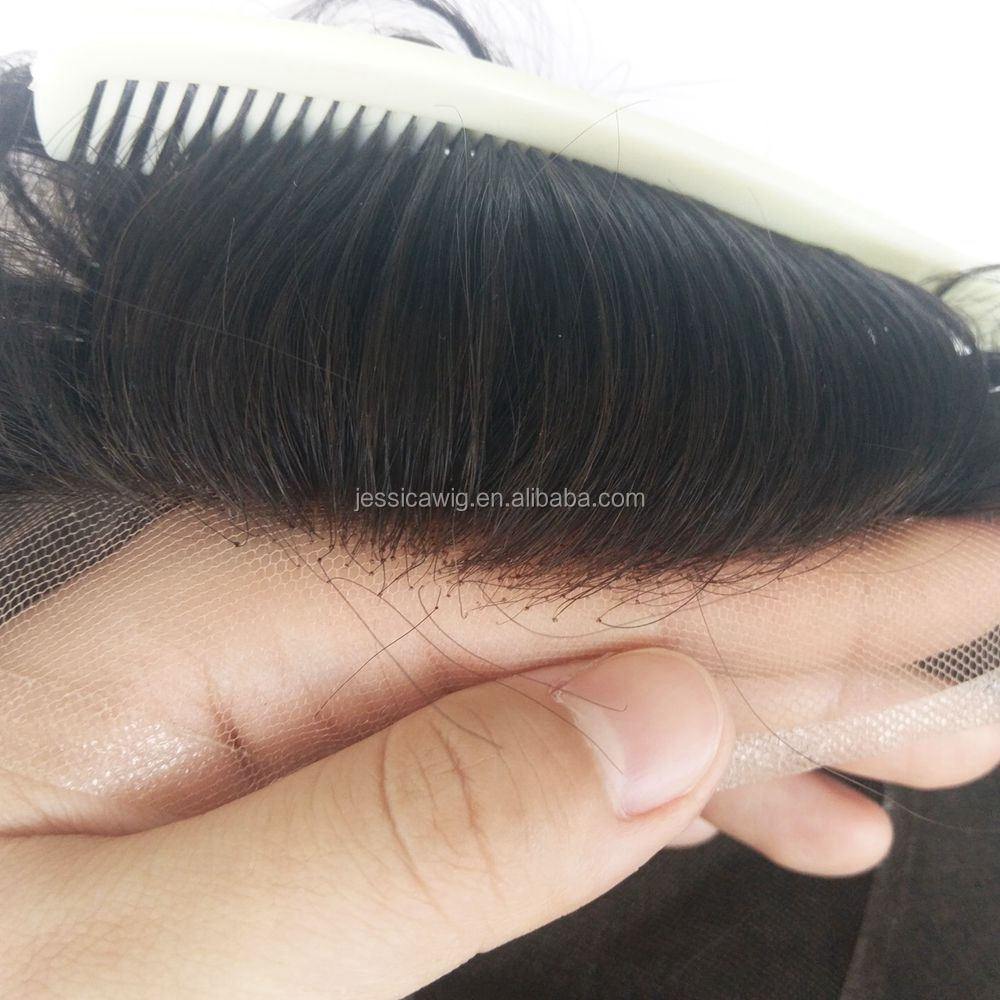 Jessica toupee Indian Remy Hair Full lace hair System for men