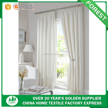 100%polyester European hot sale jacquard solid curtain with design