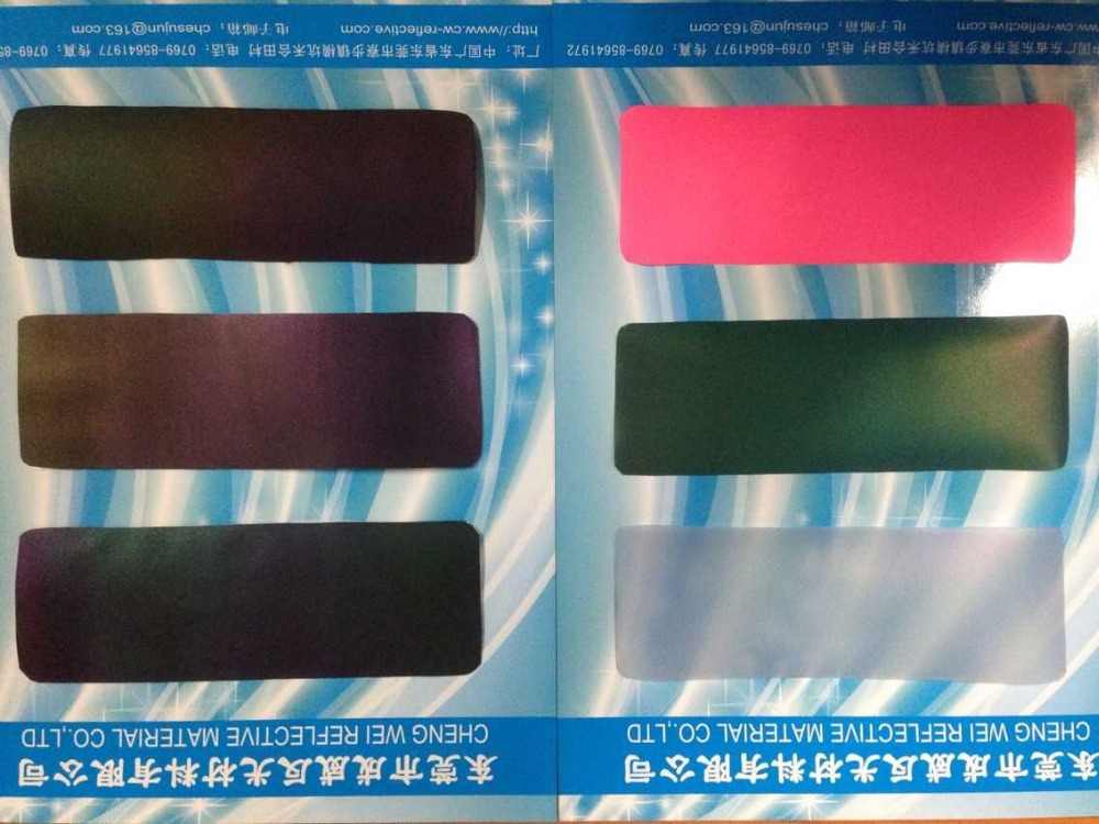2016 popular 7 color reflective pu leather for shoes
