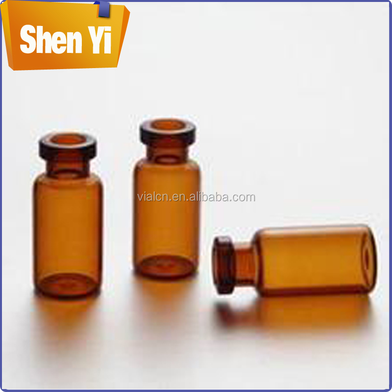 High-grade tubular glass vials amber glass vial with flip off cap