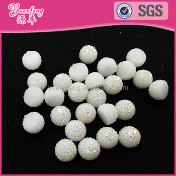 Half Berry Fruit Ball 6 8 10mm Shining ABS No Hole Beads