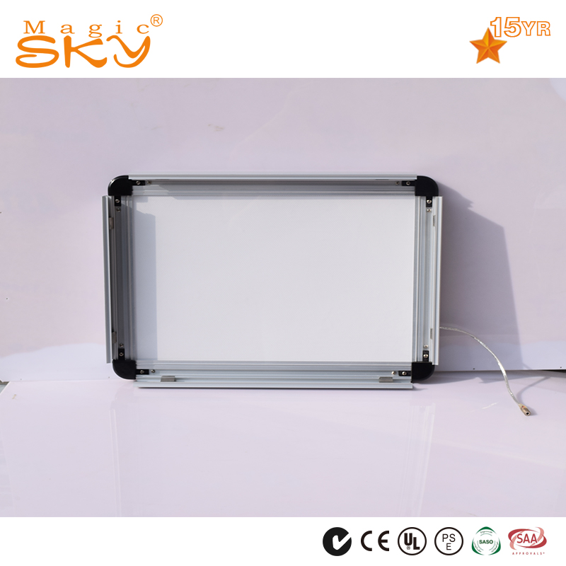 2016 Good selling battery powered led picture frame light aluminium profile