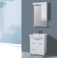 cheap bathroom cabinet pvc cabinet white made in china