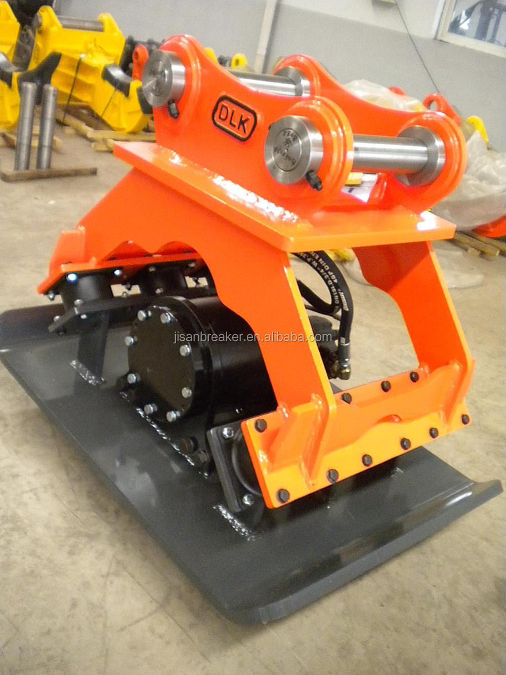 Excavator vibrating plate compactor for 15tons carrier
