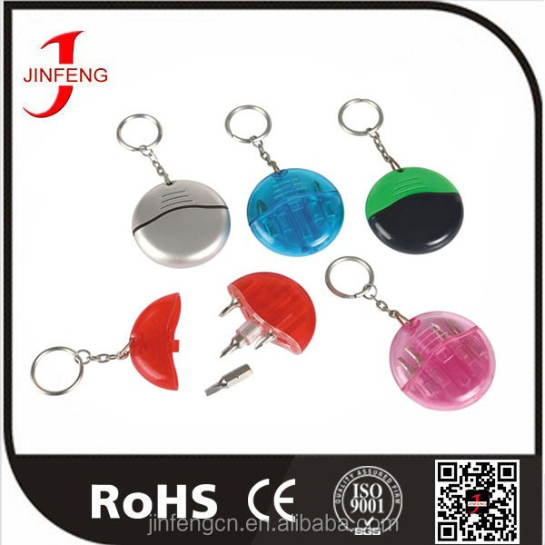 Cixi Factory Jin Feng JF355 High Quality Mini Tool Kit Keychain With 4 Screwdriver Bits
