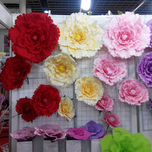 30/40/5060/70/80cm Large artificial flowers roses Wedding background Decorative flower branches silk flowers for home decoration
