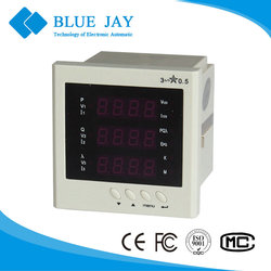 194E-9S4 LED Multifunction 96*96 panel Meter, 220V Active Power Meter For PLC Connect with 2 Channel Analog 4~20mA