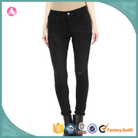 Fashion Ladies Slim Fit Jeans, Denim Jeans, High Quality Washed Denim Jeans