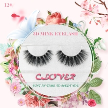 Cheap price nature thick private label 3d mink eyelashes false eye lashes