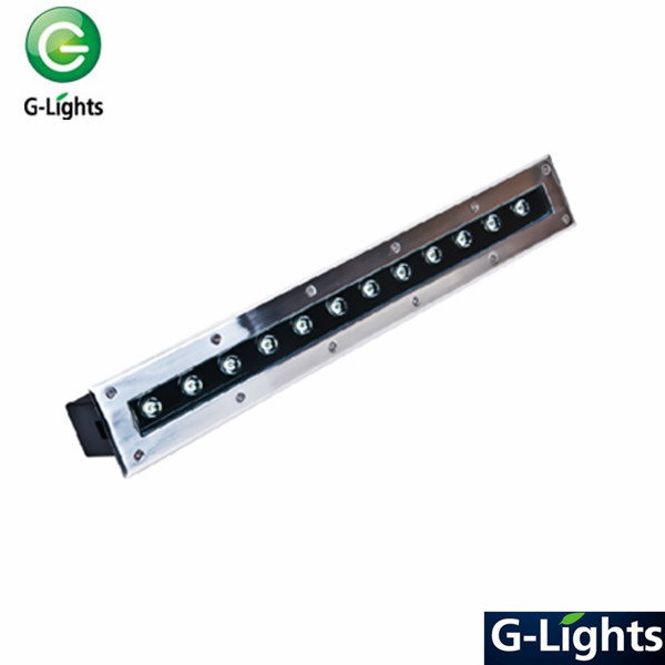 18w linear underground light led source IP65 with Tempered glass lens