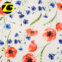 Beautiful design 75D polyester rose flower design custom digital printing chiffon fabric for blouse