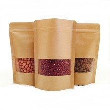 high quality recycled and reusable paper grocery bag with zipper