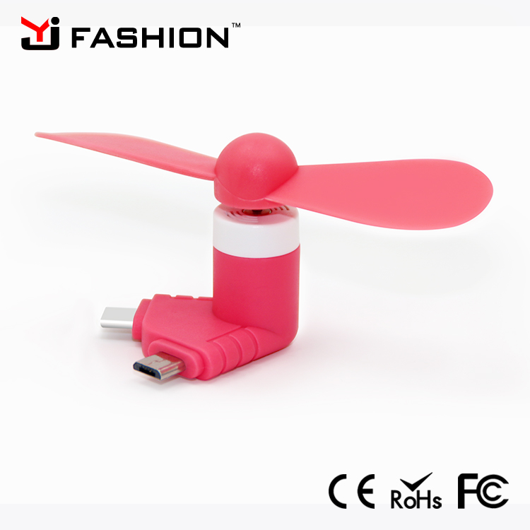 2 in 1Mini Portable Cool Micro USB Fan Mobile Phone USB Gadget Fans Tester For Apple Iphone 5 5s 6 6s 7 Plus Android HTC Usbfan