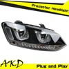 AKD Car Styling VW POLO Headlights 2009-2014 POLO MK6 led Headight Volks Wagen Polo Head Lamp Projector Bi Xenon Hid H7
