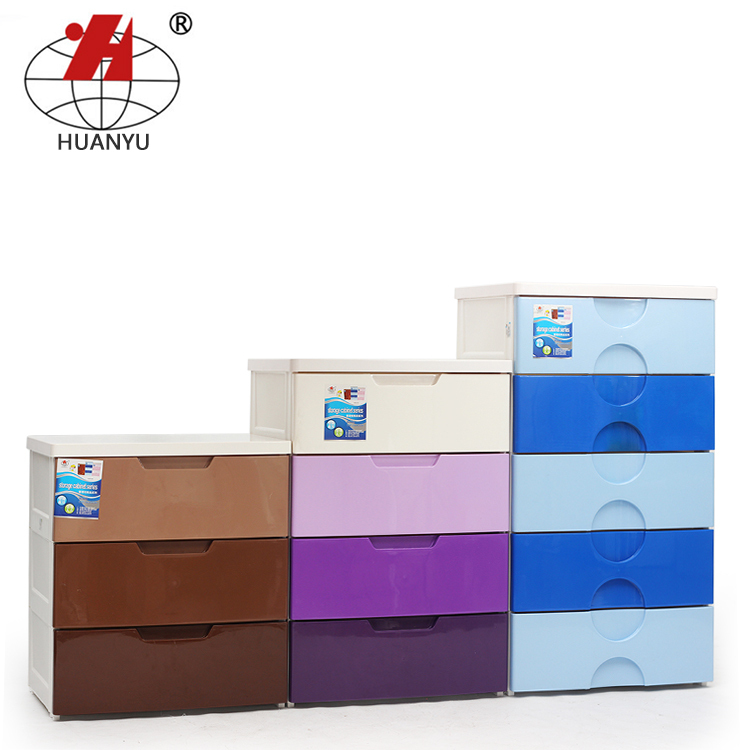 Large storage cabinets thickened gradient children drawer cabinet finishing multilayer plastic baby wardrobe lockers