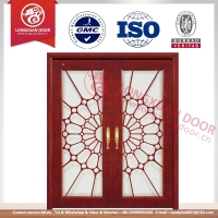 Used commercial glass insert entry solid wood doors & mix wood door