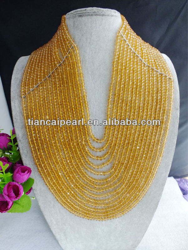 <strong>W</strong>-<strong>124</strong> New Design African Crystal Beads Jewelry Necklace For Wedding