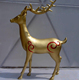 Gold deer statue decoration crafts for sale