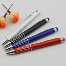 Metal Short Ballpoint Pen With Matching Color Stylus