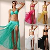 plain design solid color bikini cover up swimsuit beach wear