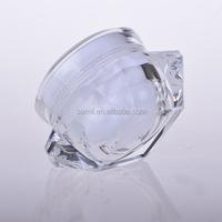 diamond packaging nail polish clear plastic cosmetic jar 30g cream