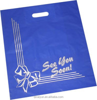 custom printed frosted plastic shopping bag