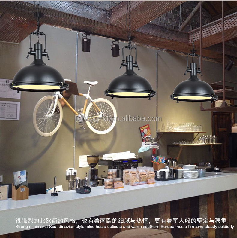 American industrial loft style retro chandelier Robles pendant light for restaurant /bar /coffee shop