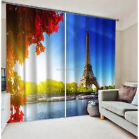2016 fashion weddings decoration curtain with eiffel tower design